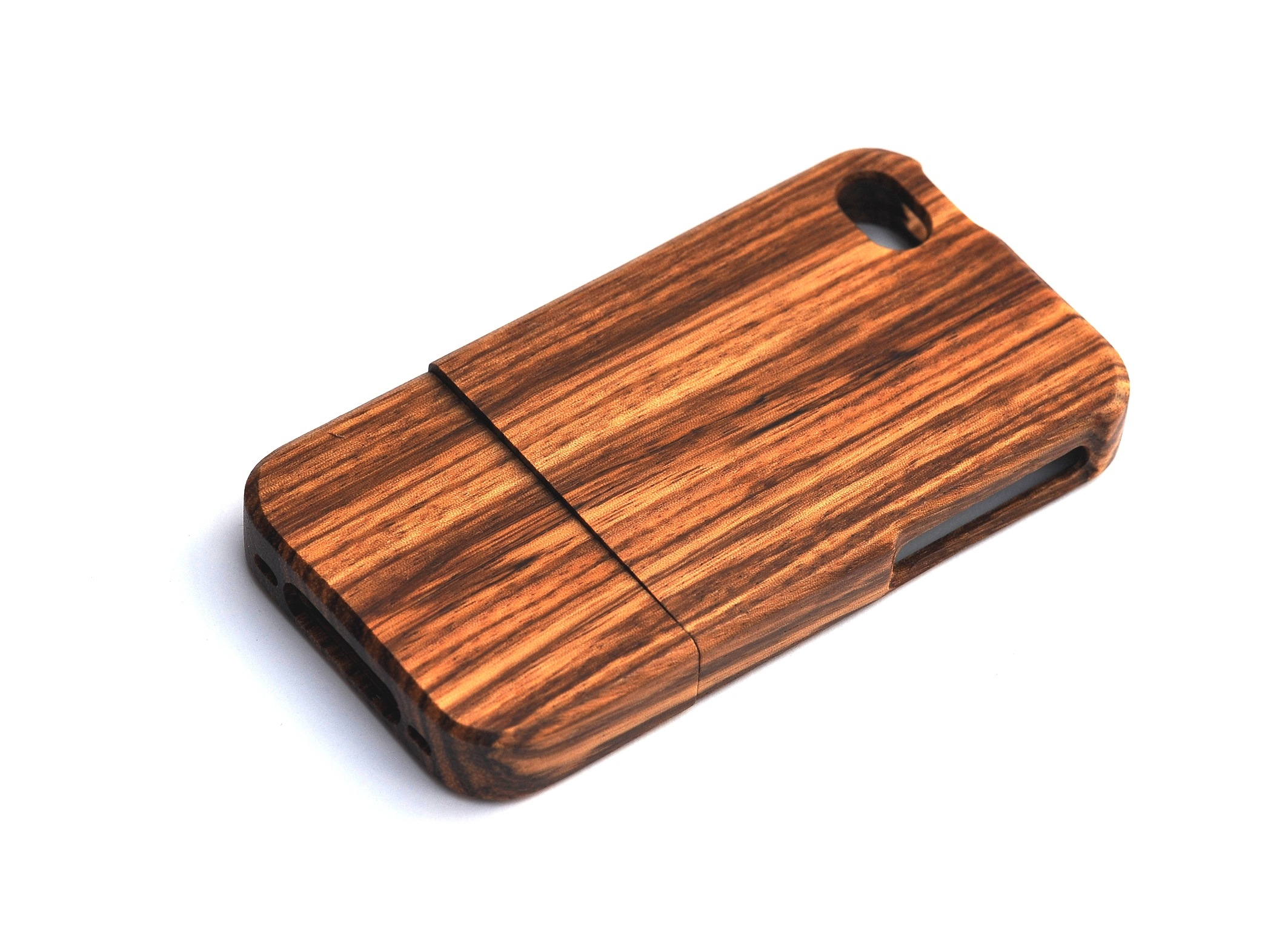 Iphone 4s wooden cover 100 procent zebrano 269 00 kr smukt cover til