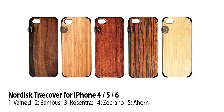 Nordisk træ cover iPhone