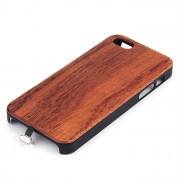 Wooden Qi cover iPhone 5se 3