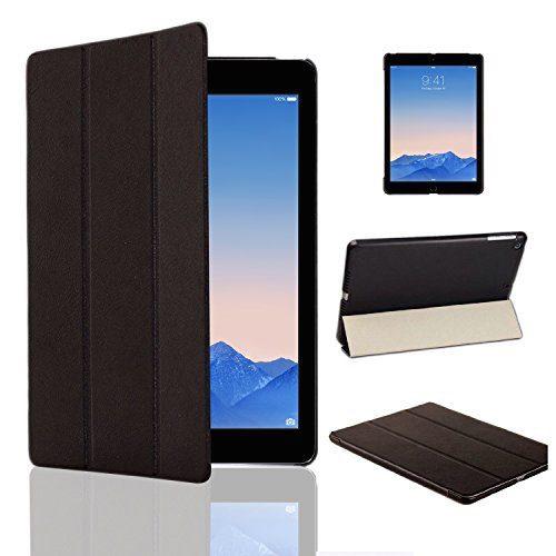 iPad Air 2 smart case sort læder, cover til ipad air 2, læder cover ipad air 2