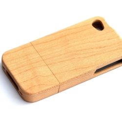 iPhone 4s wooden cover 100 procent Ahorn