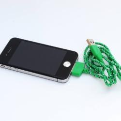 grøn_designer_kabel_iphone_4