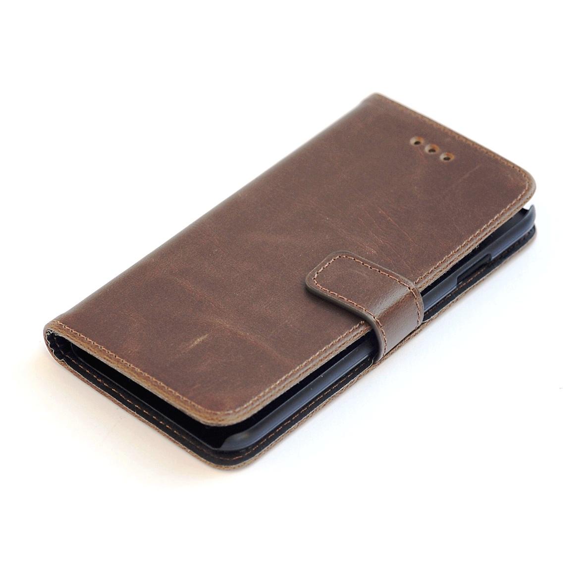 iPhone 7 PLUS kortholder læderpung brun 2