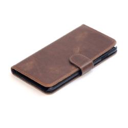 iPhone 5se cover af brun læder