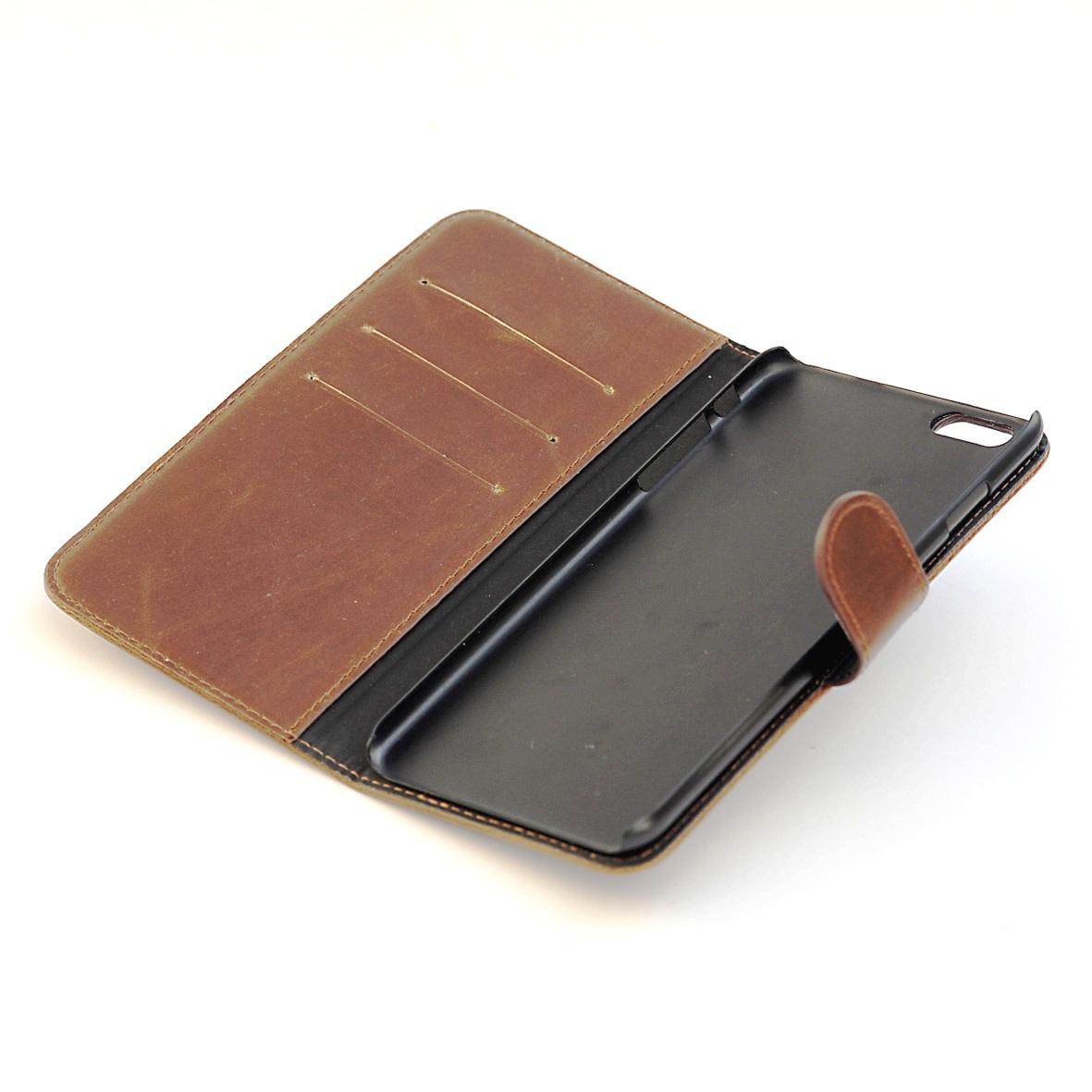 iPhone 5se cover af brun læder 1