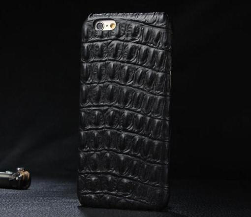 iPhone 5 cover sort krokodille læder 3