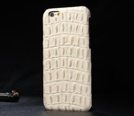 iPhone 5 cover hvid krokodille læder