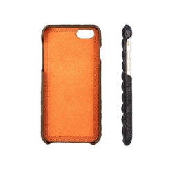 iPhone 5 cover sort krokodille læder 1