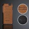 iPhone 6 handmade kreditkortholder af sort læder 1