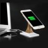 Qi opladningsstation Smartphone sort stand