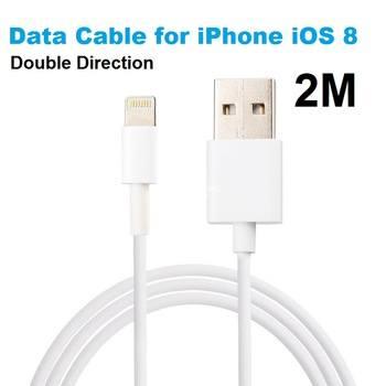 Oplader kable 2 meter iPhone 5-6-7-8