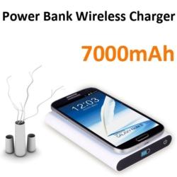 Qi Power Bank 7000mAh med trådløs opladning 9