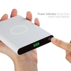 Qi Power Bank 7000mAh med trådløs opladning 2