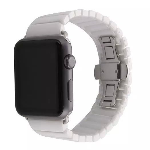 Hvidt keramik urrem Apple Watch 42mm 7