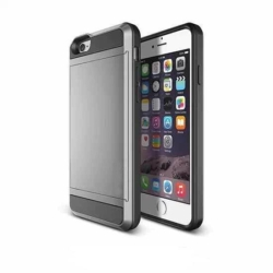 Kortholder safety cover iPhone 5/5se SILVER