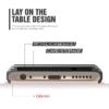 iPhone 6 PLUS cover med kortholder i sølv