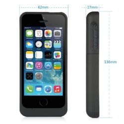 Power cover slim-fit iPhone 5s mat sort 4