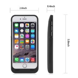 Power cover slim-fit iPhone 6s mat sort