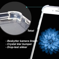 Gennemsigtigt iPhone X cover safety 2