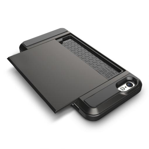 iPhone 6 PLUS cover med kortholder i sort