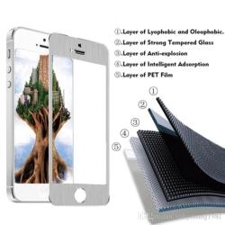 Skærmbeskytter iPhone 6 titanium sølv kant