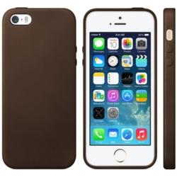 iPhone 5se slim-fit cover brunt læder