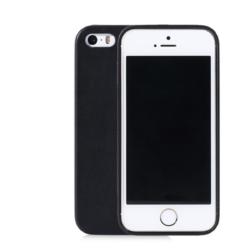 iPhone 5se slim-fit cover sort læder