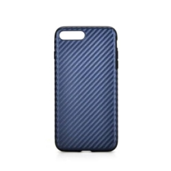 iPhone 7 PLUS carbon fiber soft cover BLÅ