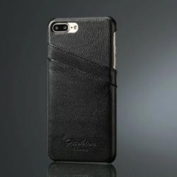 iPhone 7-8 PLUS handmade kreditkortholder af sort læder