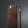 iPhone 7-8 handmade kreditkortholder af sort læder
