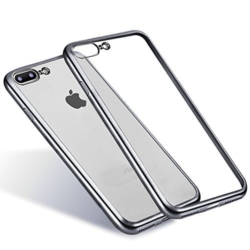 iPhone 7-8 PLUS transparent soft cover SILVER