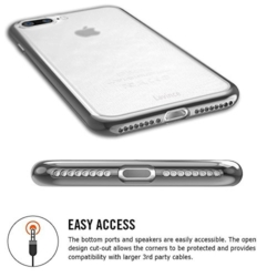 iPhone 7 transparent soft cover SPACE GREY