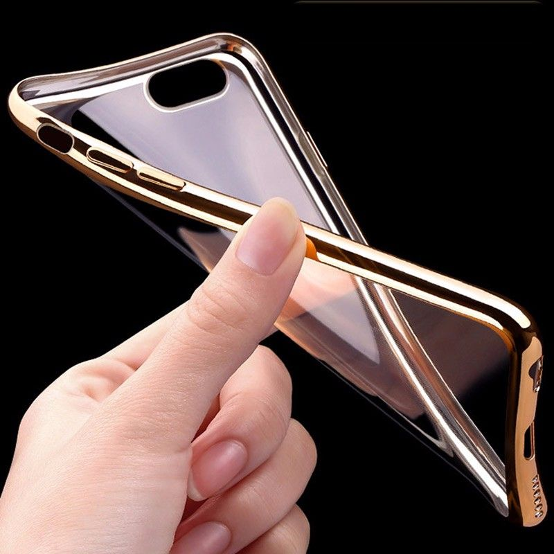 iPhone 7 PLUS transparent soft cover GOLD 6