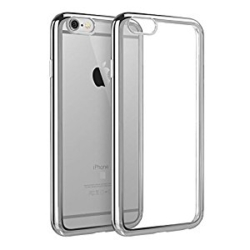 iPhone 7 transparent soft cover SILVER