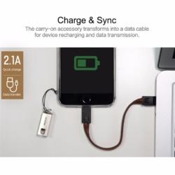 ROCK nøglering med Apple usb lightning kabel RØD 6