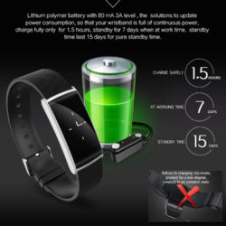 Fitness LUX smartwatch Bluetooth armbånd 16