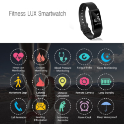 Fitness LUX smartwatch Bluetooth armbånd 3