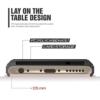 iPhone 7 PLUS cover med kortholder i sølv 1
