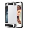 iPhone 7 PLUS cover med kortholder i sølv