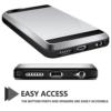 iPhone 7 PLUS cover med kortholder i sølv 4