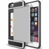 iPhone 7 PLUS cover med kortholder i sølv 5