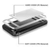 iPhone 7 PLUS cover med kortholder i sølv 6