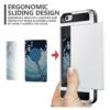 iPhone 7 PLUS cover med kortholder i sølv 7