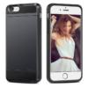 iPhone 7 PLUS cover med kortholder i sort 1