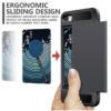 iPhone 7 PLUS cover med kortholder i sort