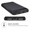 iPhone 7 PLUS cover med kortholder i sort 2
