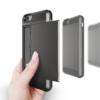 iPhone 7 PLUS cover med kortholder i sort 6