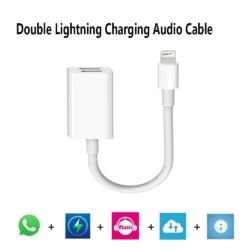Dobbelt lightning jack til iPhone 7-8 2