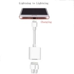 Dobbelt lightning jack til iPhone 7-8 4