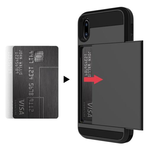 Kortholder safety cover iPhone X SORT 4
